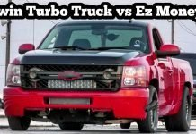Twin Turbo Chevy Silverado Truck vs Ez Money Truck Battle at EMP No Prep Top End Race