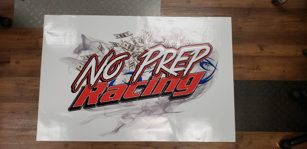 Official No Prep Racing Track Banner