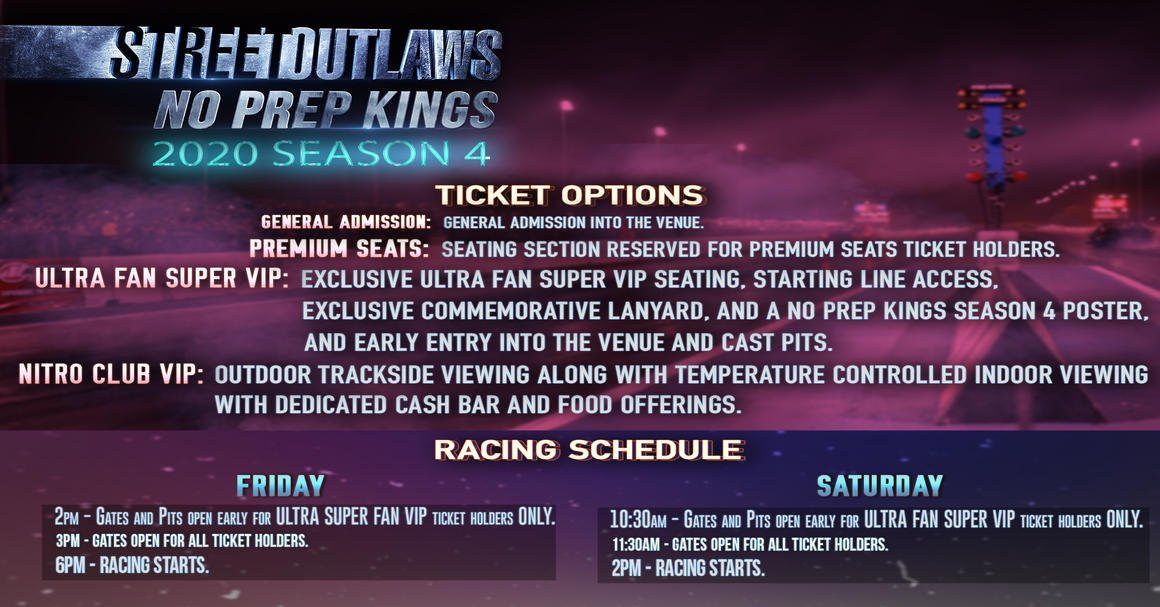Street Outlaws No Prep Kings Season 4 Schedule