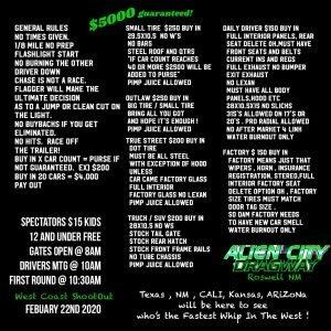 West Coast Shootout @ Alien City Dragway