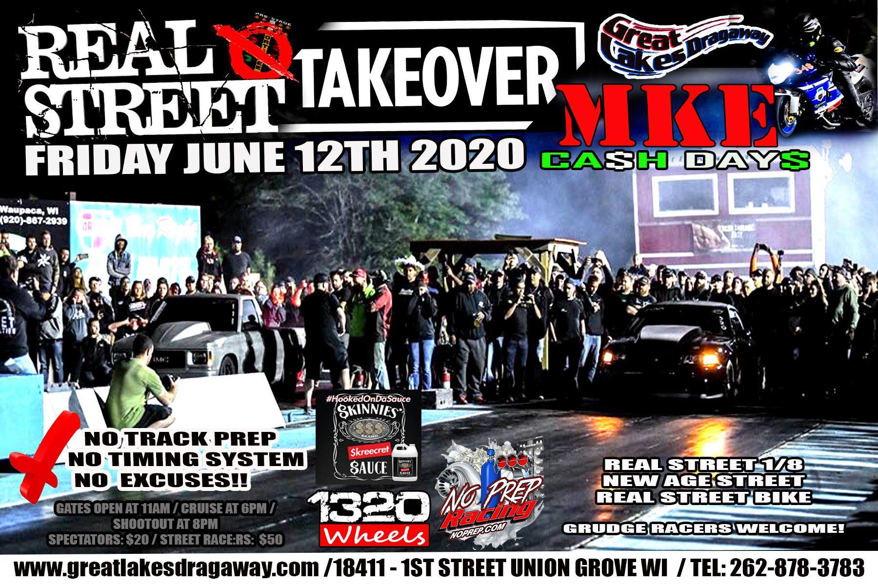 MKE Real Street Takeover 2020 Great Lakes Dragaway