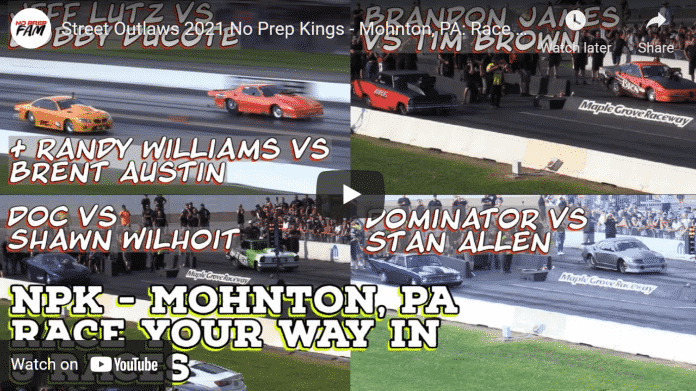 Street Outlaws 2021 No Prep Kings - Mohnton, PA: Race Your Way In Races