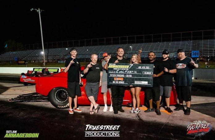 Outlaw Armageddon 7 - OG Fireball Camaro Wins Big Tire!